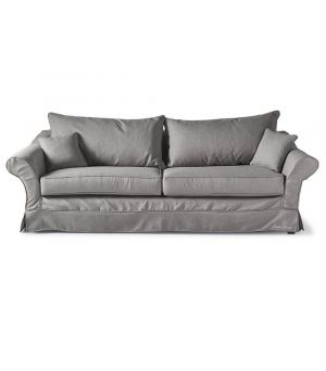 Bond Street Sofa 3.5s, Oxford Weave, Grey