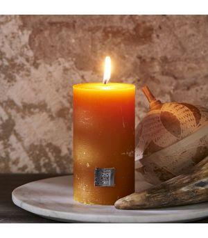 Sviečka Rustic Candle ocher yellow 7 x 13