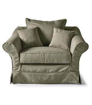 Bond Street Love Seat, Oxford Weave, FrGreen