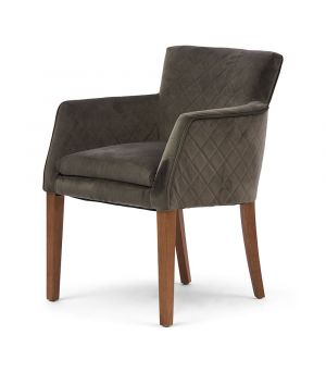 Waverly Armchair, Velvet, Sl Grey