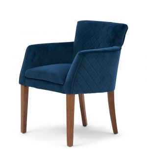 Waverly Armchair, Velvet, OC Blue
