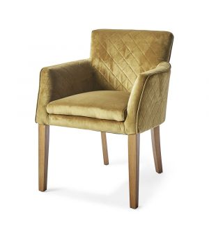 Waverly Armchair, Velvet, Green