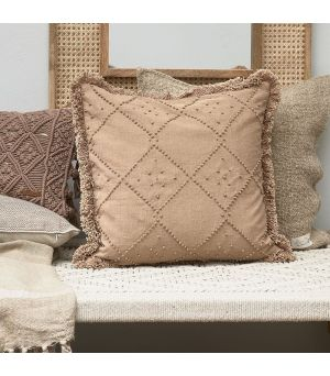 Návlek na vankúš  Basic Bliss Fringe Pillow Cover beige 50 x 50