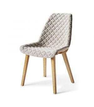 Jedálenská stolička Amsterdam City, Linen, Grey