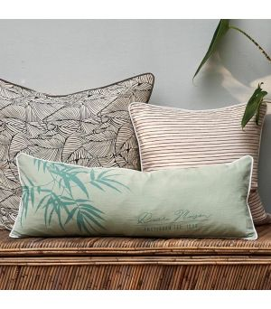 Botanical Bamboo Leaves Pillow Cover 80 x 30
