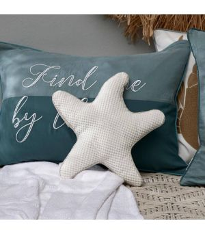 Salty Starfish Pillow off white