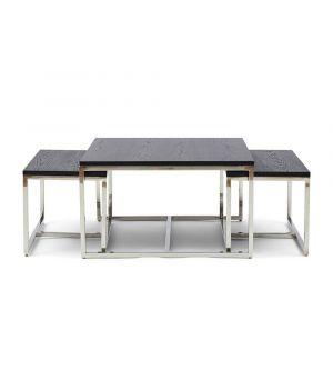 Konferenčný stolík Nomad Black S/3, 70x70cm