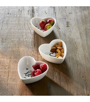 Lovely Heart Bowls 3 pcs