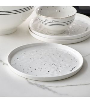 RM Dots & Stripes Dinner Plate