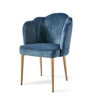 Lauderdale Dining Chair, velvet