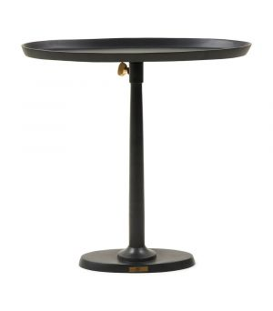 Stolík Kimberley End Table Black ∅ 55 cm