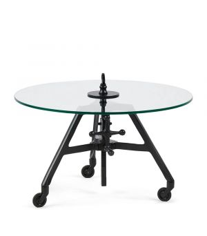 Konferenčný stolík Bricklane Coffee Table,  Black, ∅70cm