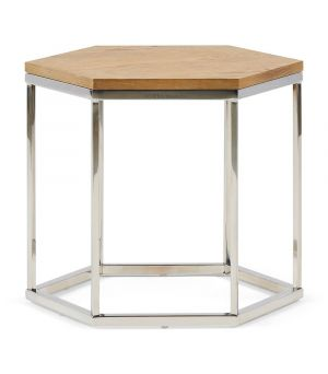 Hexagon Parc End Table, Wood