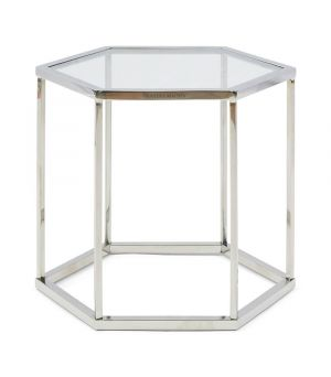 Hexagon Parc End Table, Glass