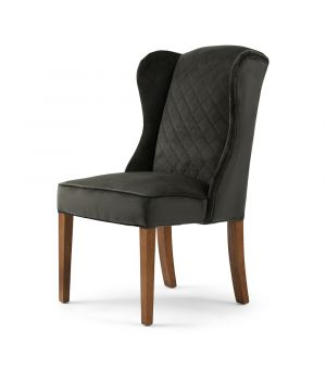 William Dining Chair, Velvet, Sl Grey