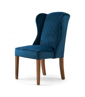 William Dining Chair, Velvet, OC Blue