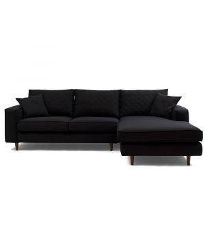 Rohová sedačka Kendall Corner Sofa Right, Oxford Weave, Black