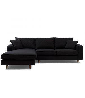 Rohová sedačka Kendall Corner Sofa Left, Oxford Weave, Black