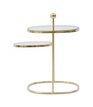 Konferenčný stolík Liberty Hexagon, Gold, 49x48cm