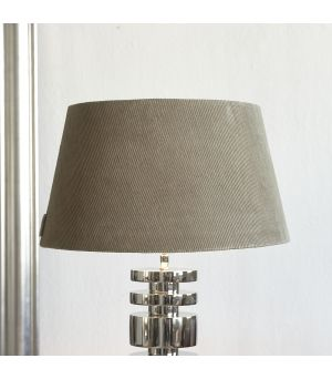 Lovely Rib Velvet Lampshade grey 35 x 45