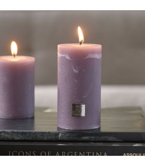 Rustic Candle lavendel 7 x 13