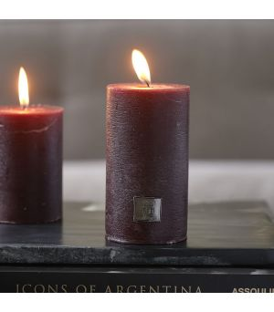 Rustic Candle burgundy 7x13