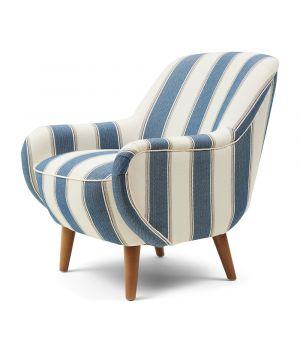 Kreslo Harper Armchair, Stripe, Blue