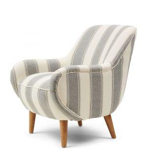 Kreslo Harper Armchair, Stripe, Grey