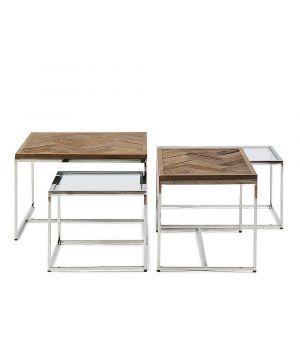 Konferenčný stolík Bushwick, sada 4ks, 60x60cm