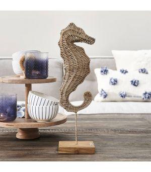 Socha Rustic Rattan Sea Horse