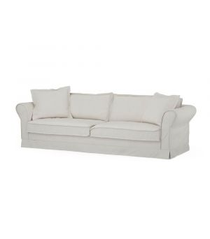 Carlton Sofa 3,5s, Oxford Weave, AlWhite