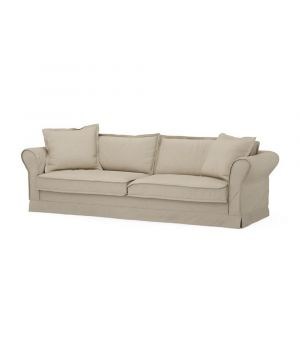 Carlton Sofa 3,5s, Oxford Weave, FlaFlax