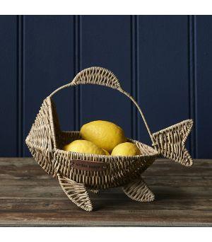 Ratanový košík Happy Fish Basket