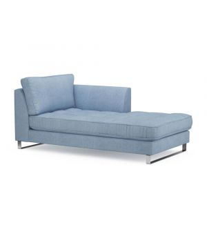 West Houston Chaise Longue Right, Washed Cotton, IceBlue