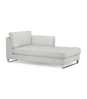 West Houston Chaise Longue Right, Washed Cotton, AshGrey