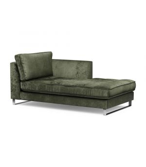 West Houston Chaise Longue Right, Velvet, Ivy