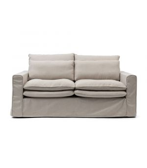 Continental Sofa 2,5s, Oxford Weave, FlFlax