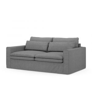 Continental Sofa 2,5s, Washed Cotton, Grey