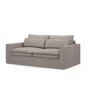 Continental Sofa 2,5s, Washed Cotton, Stone