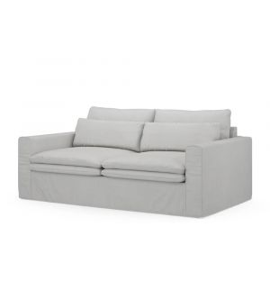Continental Sofa 2,5s, Washed Cotton, AshGrey