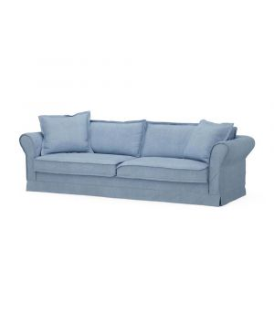 Carlton Sofa 3,5s, Washed Cotton, Ice Blue