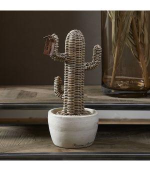 Rustikálny ratanový púštny kaktus