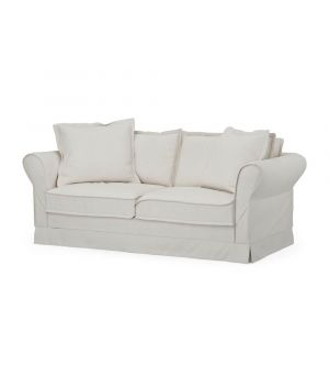 Carlton Sofa 2,5s, Oxford Weave, White