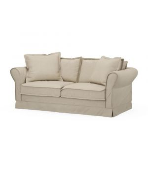 Carlton Sofa 2,5s, Oxford Weave, FlFlax