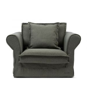 Carlton Love Seat, Oxford Weave, Green