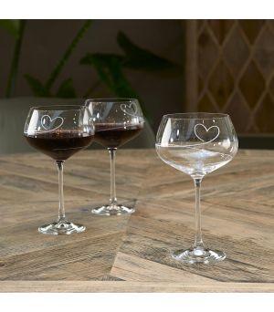 Pohár na červené víno With love