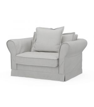 Carlton Love Seat, Washed Cotton, AshGrey