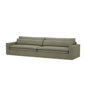 Continental Sofa XL, Oxford Weave, FrGreen