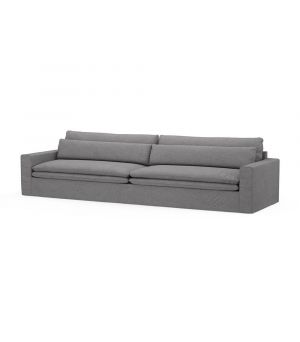 Continental Sofa XL, Oxford Weave, StGrey