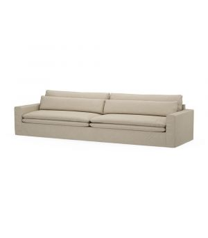 Continental Sofa XL, Washed Cotton, AshGrey